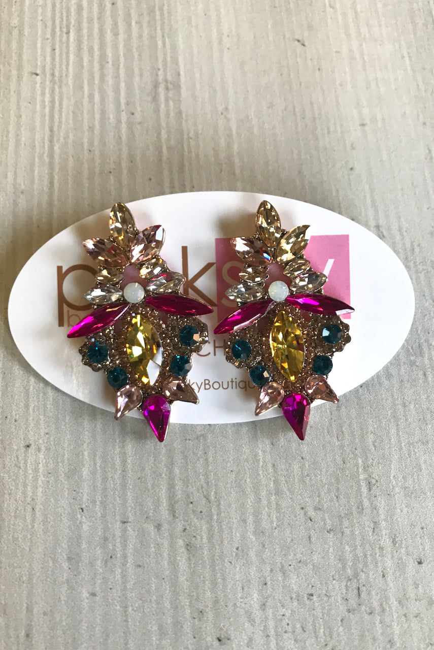 Colorful Marquise Jewel Earrings