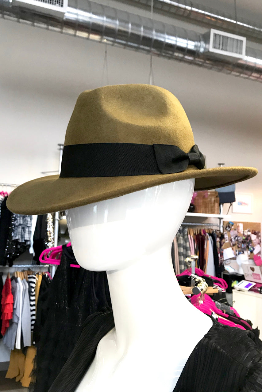 Bow Brim Fedora- Brown