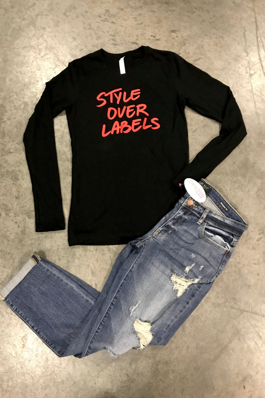 Style Over Labels Long Sleeve Crew Tee