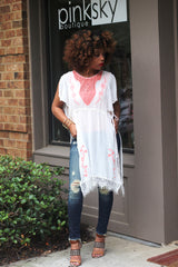 Embroidered Open Side Tunic