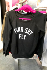 Cruvie/Pink Sky Off Shoulder Sweatshirt
