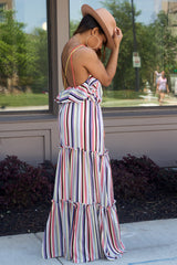 Cross Strap Stripe Maxi