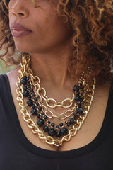 Junky Chain Bead Necklace