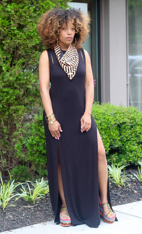 Double Split Cut Out Maxi Dress