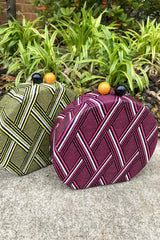 Tribal Round Box Clutch