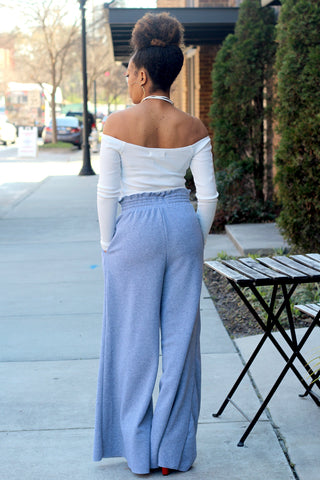 Off Shoulder Sweat Jumpsuit-PREORDER