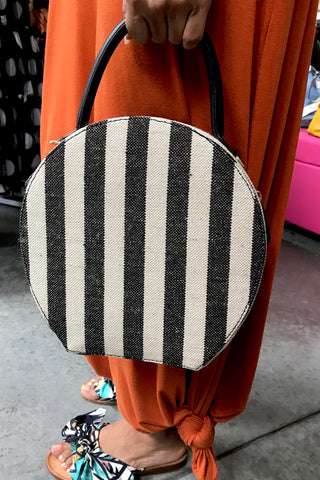 Stripe Round Bag