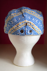 Pink Sky Boutique Ivy Cap Blue Gold Tribal Print Back