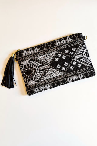 Black Tapestry Clutch