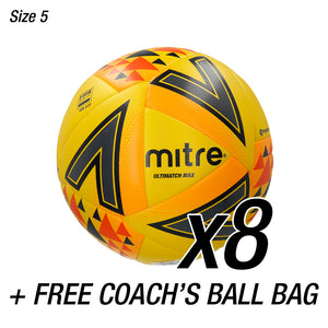 8x Ultimatch Max Fluo + FREE Coaches Ball Bag