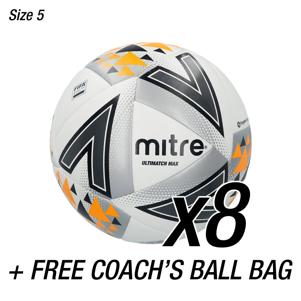 8x Ultimatch Max + FREE Coaches Ball Bag