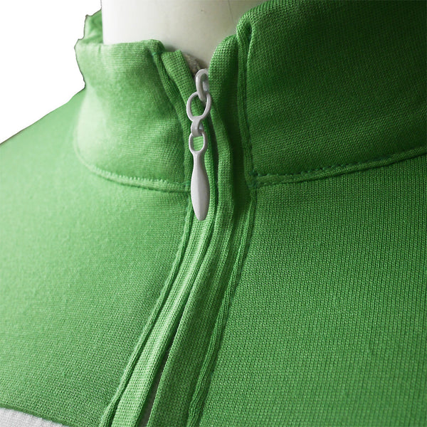 Mandarin Collar Polo [MP005/Lime White]
