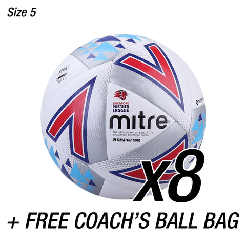 8x SPL Ultimatch Max + FREE Coaches Ball Bag
