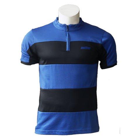 Mandarin Collar Polo [MP005-Royal/Black]