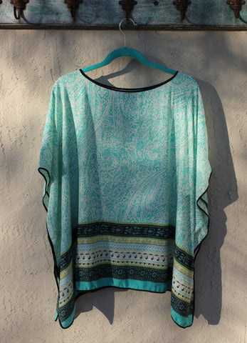 Beach Party Poncho - Turquoise