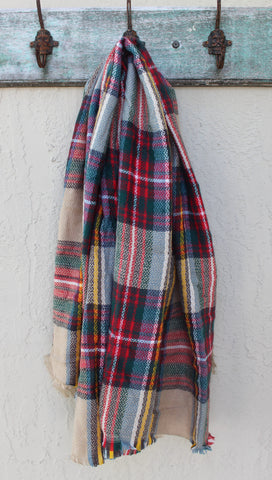 Winter Berry Blanket Scarf