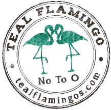 Teal Flamingos (No To O)