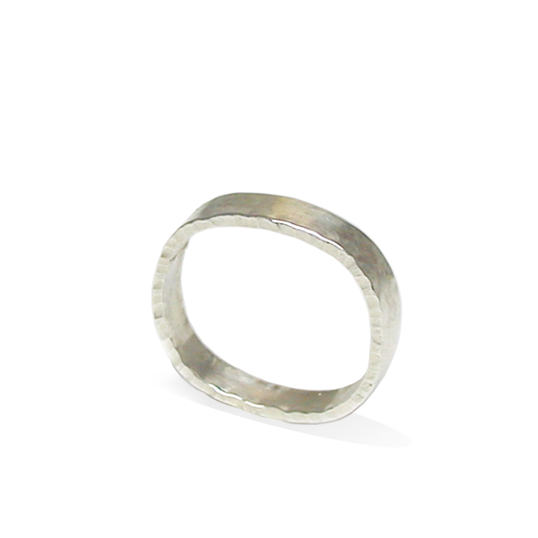 Rounded shaped sterling silver ring