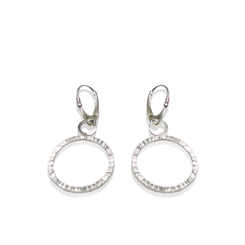 Elegant and chic hoops with texture and pizzaz.