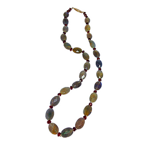 Labradorite and Garnet Necklace