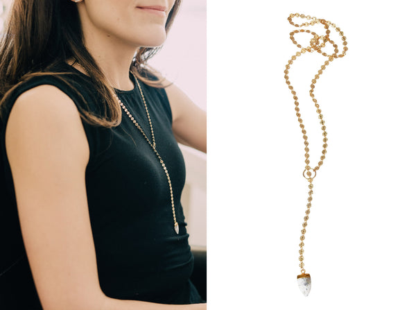 Apostle In House Collection Chloe Lariat Disc Necklace