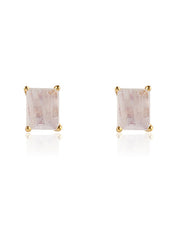 Leah Alexandra Moonstone Baguette Earrings