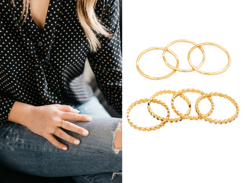 Real Style Project Gorjana Stacking Rings