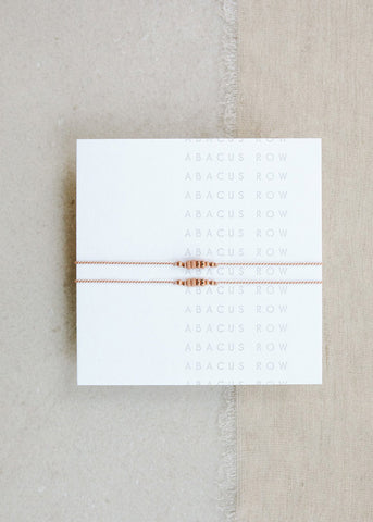 Abacus Row  |  Mother Daughter Friendship Bracelets