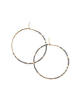 Beaded Hoop Earring Abacus Row Pan Hoops Grey