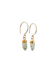 Pretty Casual Gold Gemstone Drop Earrings Handmade Jewelry Canada