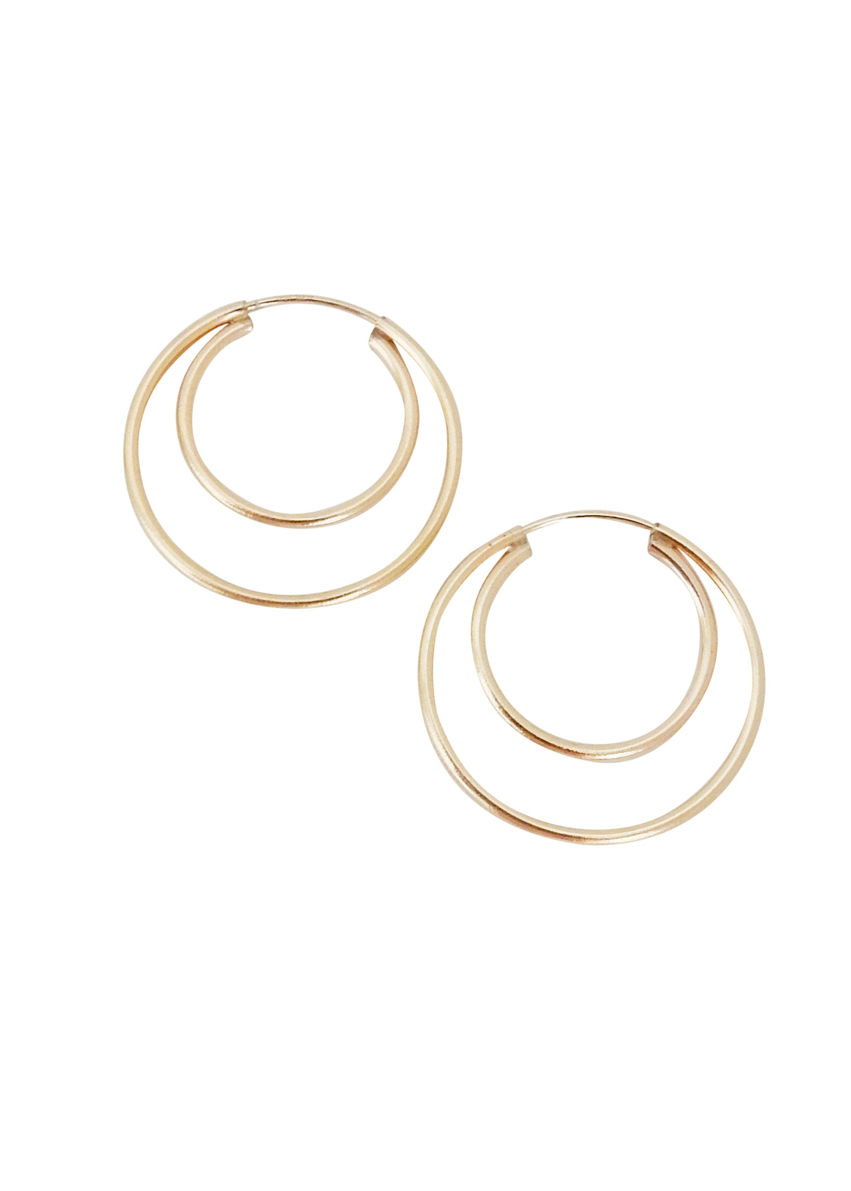 Apostle In House Collection Double Ring Hoops