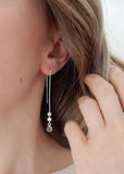 Threader Earrings with Gemstone Online Jewelry Boutique
