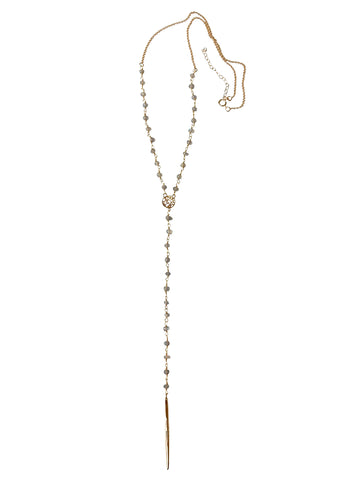 Apostle In House Collection  |  Joy Lariat Necklace, Labradorite