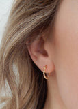 Gold Mini Hoop Huggie Earring