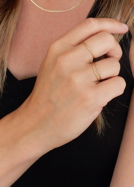 Apostle In House Collection  |  Minimalist Shine Ring, Gold