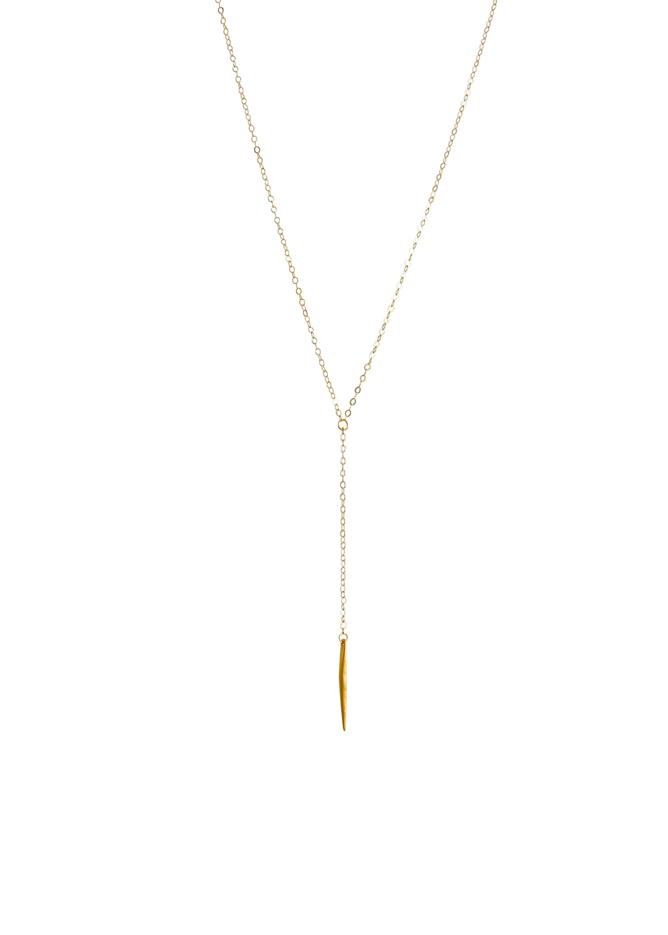 Delicate Gold Lariat RiRi Necklace Apostle In House Collection