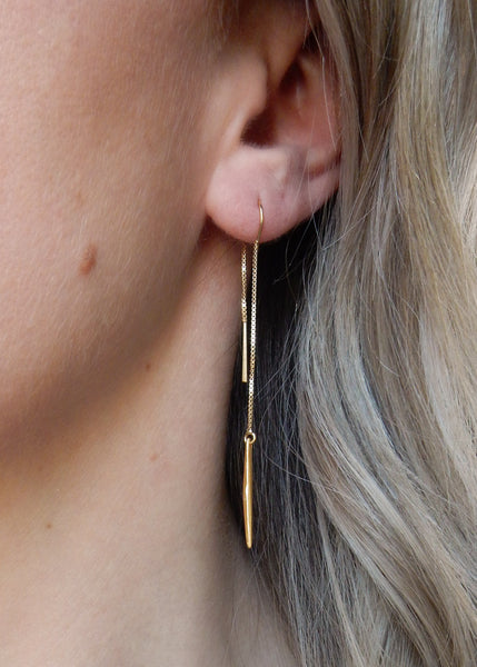 Apostle In House Collection RiRi Ear Threaders Gold