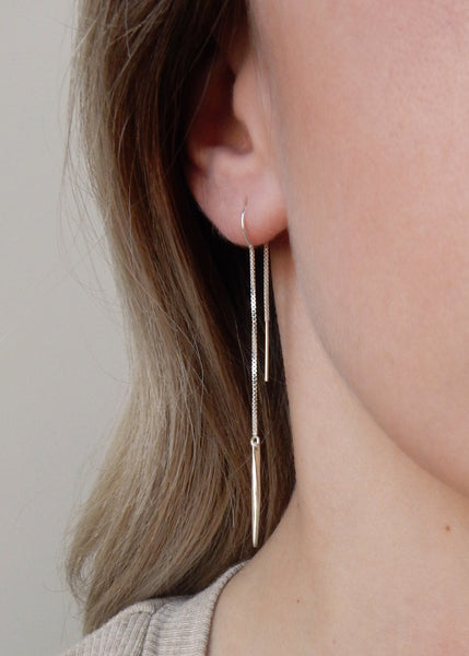 Apostle In House Collection RiRi Ear Threaders Silver