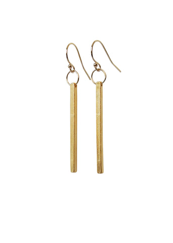 Apostle In House Collection  |  Straight & Narrow Earrings, Gold