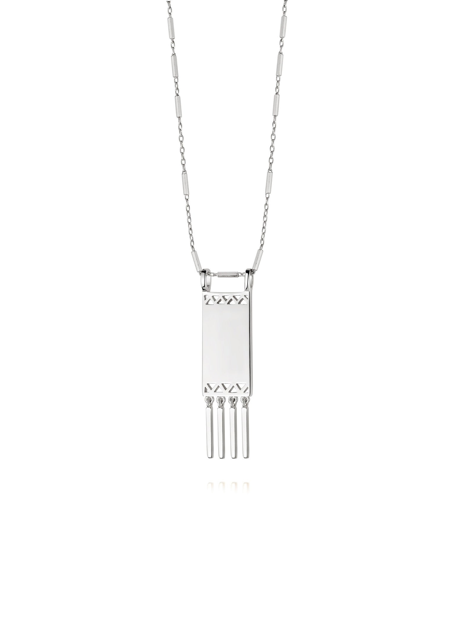 Daisy London Artisan Tapestry Necklace Silver Canada