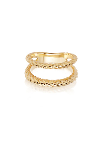 Daisy London  |  Stacked Double Rope Ring