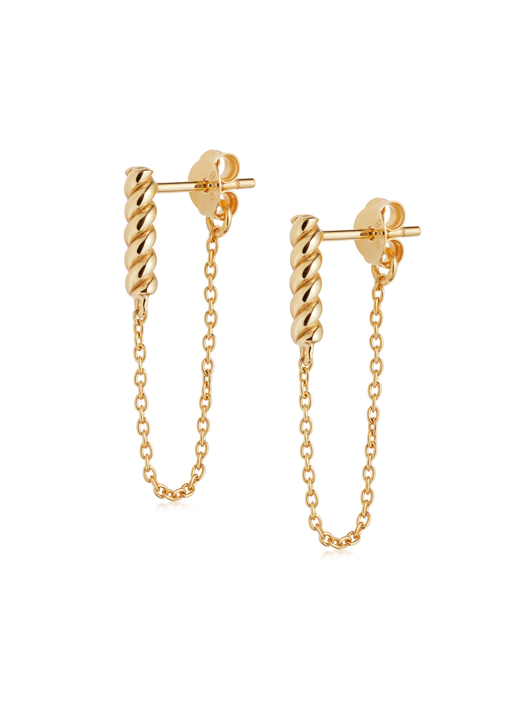 Daisy London Stacked Rope and Chain Drop Earrings Gold Canada