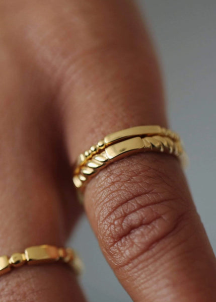 Daisy London Stacked Essential Ring Gold Canada