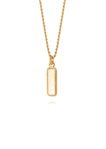 Daisy London  |  Stacked Rope Pendant Necklace, Gold