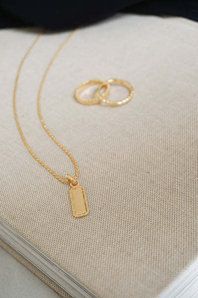 Daisy London Stacked Rope Pendant Necklace Gold Canada