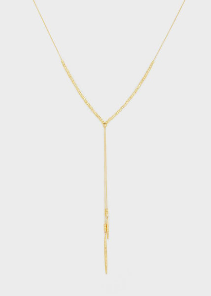 Gorjana Laguna Adjustable Necklace Gold and Silver
