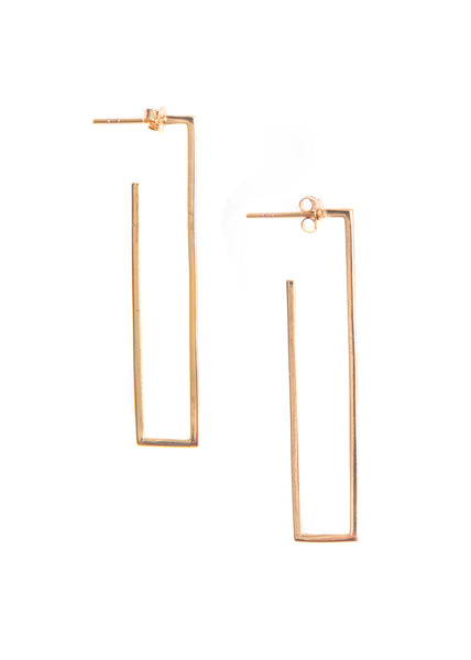 Hailey Gerrits Barcelona Square Hoop Earrings