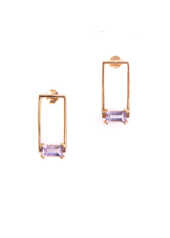 Hailey Gerrits  |  Corsica Stud Earrings, Pink Amethyst