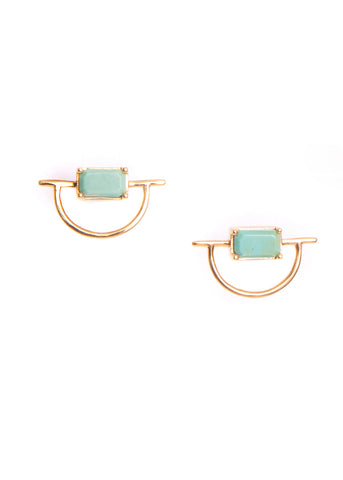 Hailey Gerrits  |  Horizon Stud Earrings, Green Turquoise