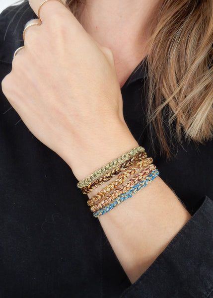 Janelle Khouri  |  Braided Sparkle Bracelet, Colour Options